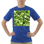 Retro Green Abstract Men s T-shirt (Colored)