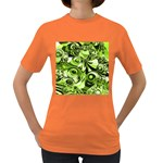 Retro Green Abstract Women s T-shirt (Colored)