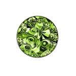 Retro Green Abstract Golf Ball Marker 4 Pack (for Hat Clip)