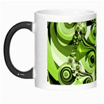 Retro Green Abstract Morph Mug