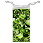 Retro Green Abstract Jewelry Bag