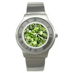 Retro Green Abstract Stainless Steel Watch (Slim)