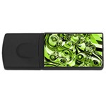 Retro Green Abstract 4GB USB Flash Drive (Rectangle)
