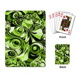 Retro Green Abstract Playing Cards Single Design