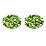 Retro Green Abstract Cufflinks (Oval)
