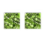 Retro Green Abstract Cufflinks (Square)