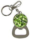 Retro Green Abstract Bottle Opener Key Chain