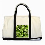 Retro Green Abstract Two Toned Tote Bag