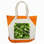 Retro Green Abstract Accent Tote Bag