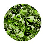 Retro Green Abstract Round Ornament (Two Sides)