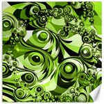 Retro Green Abstract Canvas 12  x 12  (Unframed)