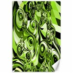 Retro Green Abstract Canvas 12  x 18  (Unframed)