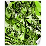 Retro Green Abstract Canvas 16  x 20  (Unframed)