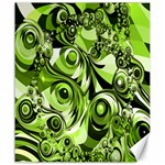 Retro Green Abstract Canvas 20  x 24  (Unframed)
