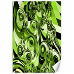 Retro Green Abstract Canvas 20  x 30  (Unframed)