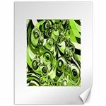 Retro Green Abstract Canvas 36  x 48  (Unframed)