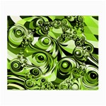 Retro Green Abstract Glasses Cloth (Small, Two Sided)