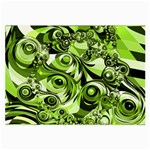 Retro Green Abstract Glasses Cloth (Large, Two Sided)