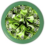 Retro Green Abstract Wall Clock (Color)
