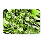 Retro Green Abstract Small Door Mat