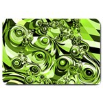 Retro Green Abstract Large Door Mat