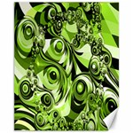 Retro Green Abstract Canvas 11  x 14  (Unframed)