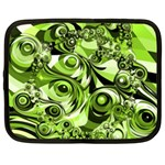 Retro Green Abstract Netbook Sleeve (Large)