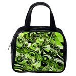 Retro Green Abstract Classic Handbag (One Side)