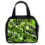 Retro Green Abstract Classic Handbag (Two Sides)
