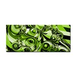 Retro Green Abstract Hand Towel