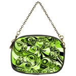 Retro Green Abstract Chain Purse (One Side)
