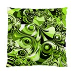 Retro Green Abstract Cushion Case (Single Sided)