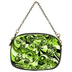 Retro Green Abstract Chain Purse (Two Sided)