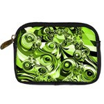 Retro Green Abstract Digital Camera Leather Case