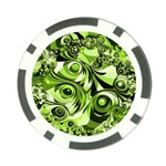 Retro Green Abstract Poker Chip (10 Pack)