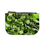 Retro Green Abstract Coin Change Purse