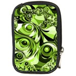 Retro Green Abstract Compact Camera Leather Case