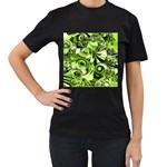 Retro Green Abstract Women s T-shirt (Black)