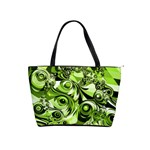 Retro Green Abstract Large Shoulder Bag