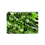 Retro Green Abstract Cosmetic Bag (Medium)