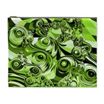 Retro Green Abstract Cosmetic Bag (XL)
