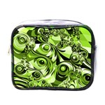 Retro Green Abstract Mini Travel Toiletry Bag (One Side)