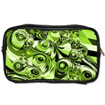 Retro Green Abstract Travel Toiletry Bag (Two Sides)