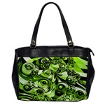 Retro Green Abstract Oversize Office Handbag (One Side)