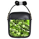 Retro Green Abstract Girl s Sling Bag
