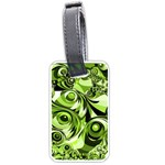 Retro Green Abstract Luggage Tag (Two Sides)