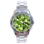 Retro Green Abstract Stainless Steel Watch
