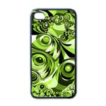 Retro Green Abstract Apple iPhone 4 Case (Black)