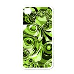 Retro Green Abstract Apple iPhone 4 Case (White)