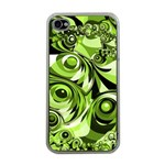 Retro Green Abstract Apple iPhone 4 Case (Clear)